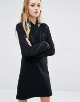 Fred Perry Stripe Collar Polo Dress