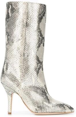 Paris Texas Snake-Effect Boots