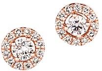 Bloomingdale's Champagne Diamond Halo Stud Earrings in 14K Rose Gold - 100% Exclusive