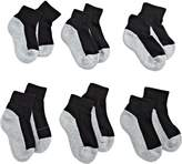 Jefferies Socks Little Boys' Seamless Sport Quarter Half Cushion Socks (Pack of 6)