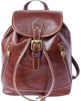 Florence Leather Market BACKPACK PURSE MADE OF GENUINE CALF-SKIN LEATHER (SMALL) 6559