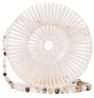 Cult Gaia Luna Acrylic Shoulder Bag - Womens - White