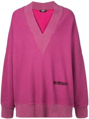 Calvin Klein oversized V-neck sweatshirt