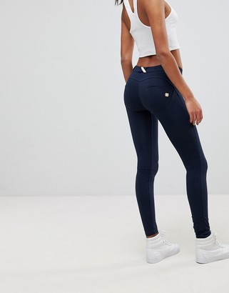 Freddy WR.UP Shaping Effect Mid Rise Snug Stretch Push Up Jegging-Navy