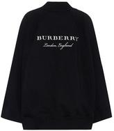 Burberry Cape en coton brodé