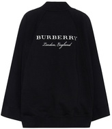 Burberry Embroidered cotton cape