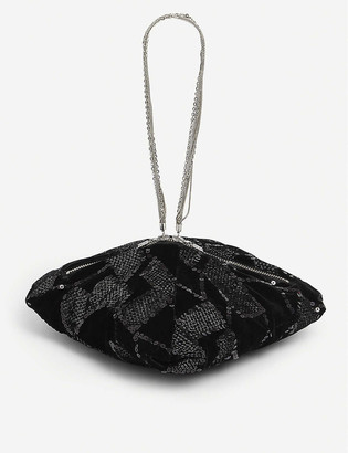 Rotate by Birger Christensen Nadele sequin-embellished woven bag