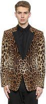 Dolce & Gabbana Leopard Printed Satin Evening Jacket