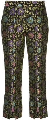 Josie Natori Jacquard Print Trousers