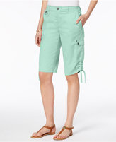 Style&Co. Style & Co Petite Ruched-Hem Cargo Bermuda Shorts, Only at Macy's
