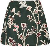 Marni Floral-Print Cotton And Silk-Blend Mini Skirt