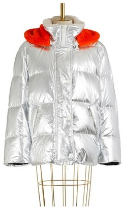 Yves Salomon Fur-lined ultra-light puffer jacket