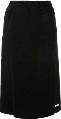 MSGM elasticated waist pencil skirt