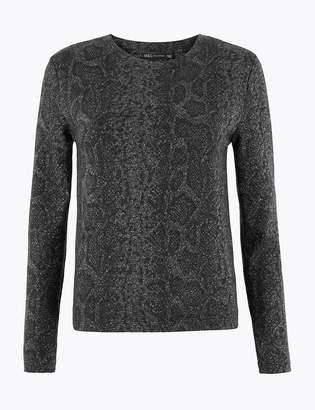 Marks and Spencer Animal Print Sparkle Sweatshirt