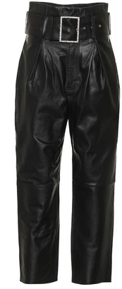 GRLFRND Beatrice high-rise leather pants