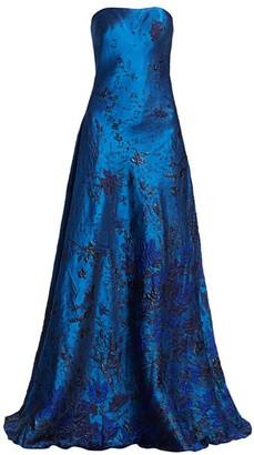 Rene Ruiz Collection Strapless Brocade Ball Gown