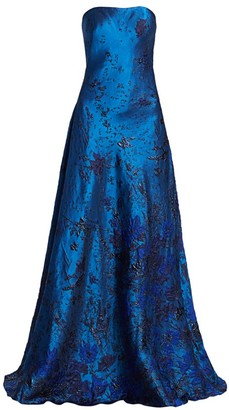 Rene Ruiz Collection Strapless Brocade Ball Gown