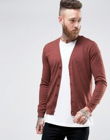Asos Cardigan in Brown Twist Cotton