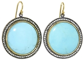 Arman Round Turquoise Drop Earrings