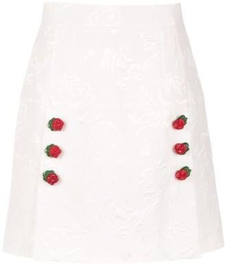 Dolce & Gabbana Floral Brocade A-Line Skirt