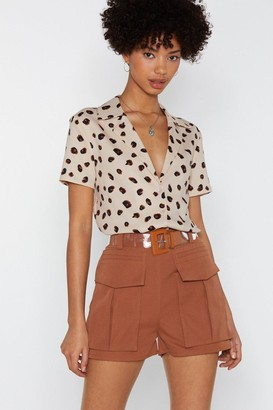 Nasty Gal Womens Pocket In Utility Shorts - Brown - 8, Brown