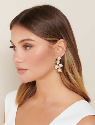 Forever New Kinsley Flower Drop Earrings - Gold - 00