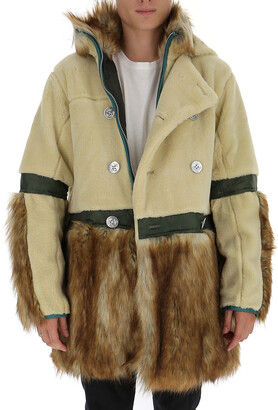 Sacai Faux Fur Hooded Coat