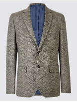 M&S Collection Pure Wool Barleycorn Jacket