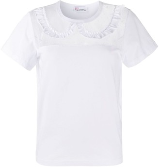 RED Valentino point d'Esprit panelled T-shirt