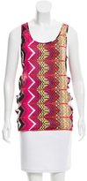 Carven Printed Cutout Top