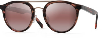 Maui Jim Men's Sunny Days Round Polarized Acetate/Stainless Steel Sunglasses