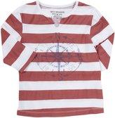 """True Religion True North"""" Tee (Kids) - White/Coral Stripes-X-Small"""
