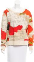 Acne Studios Abstract Print Rib Knit Sweater
