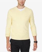 Nautica Men's V-Neck Solid Sweater