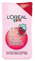 L'Oreal Kids Very Berry Strawberry 2 in 1 Shampoo 250ml - Pack of 4