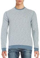 Black Brown 1826 Cotton-Blend Striped Pullover
