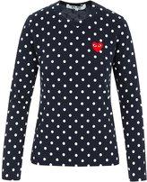 Comme des Garcons Women's Red Heart Patch Polka Dot LS T-Shirt P1T165 (M, )