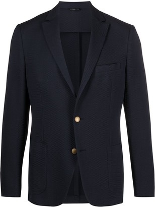 Tonello Textured Single Breasted Blazer