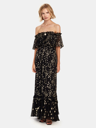 LoveShackFancy Ronny Off the Shoulder Maxi Dress