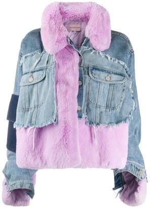 Natasha Zinko Oversized Patchwork Long Sleeve Jacket