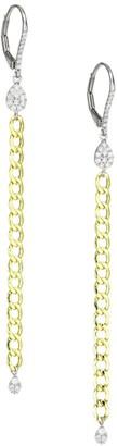Meira T 14K Yellow Gold & Diamond Drop Earrings