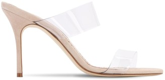 Manolo Blahnik 90mm Scolto Pvc Sandals