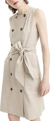 J.Crew Women's Casual Dresses FLAX - Flax Alexa Double-Breasted Linen Sleeveless Dress - Women