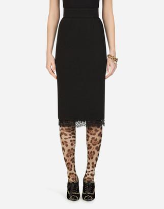 Dolce & Gabbana Basketweave Midi Skirt