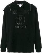Moschino tabbard logo hoodie - men - Cotton - 46