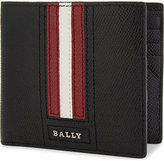 Bally Striped Trasai Textured Leather Wallet