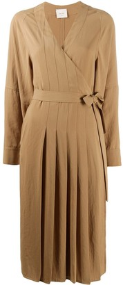 Alysi Pleated Wrap Dress