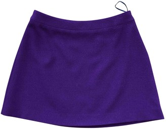 Miu Miu Purple Wool Skirt for Women