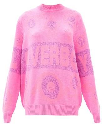 Charles Jeffrey Loverboy Logo-intarsia Sweater - Pink
