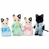 International Playthings Calico Critters Tuxedo Cat Family